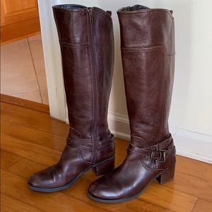 Marc Fisher Leather Brown Tall Riding Boots size 8